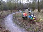 Wet trail in Wiltshire.