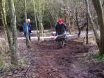 Shifting mud at the Croft Trail in Wiltshire.