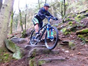 Rock steps at Cwm Carn