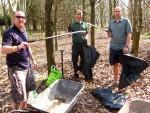Litter picking volunteers in Wiltshire.