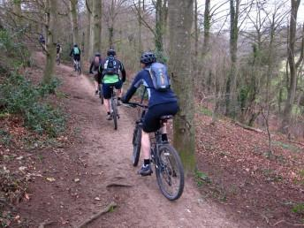 Riding in the woods near Stonesfield.