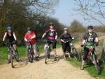 Women mountain bikers near Swindon.