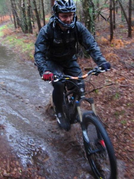 Very wet ride at Swinley Forest.