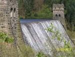 Derwent Dam waterfall.