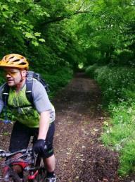Mountain biker on the Marlborough downs.