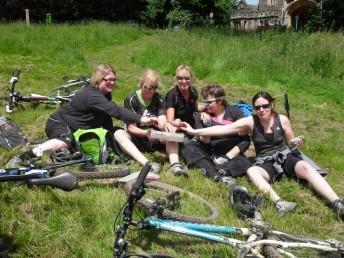 Picnic in the park at Ashton Court when biking.