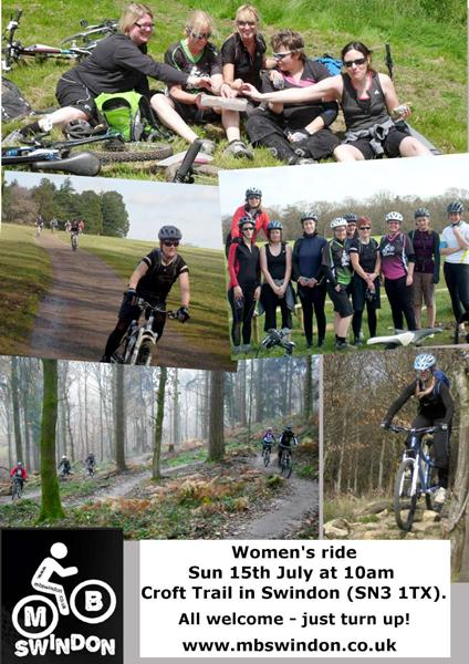 MBSwindon ladies rides leaflet for Cycletta