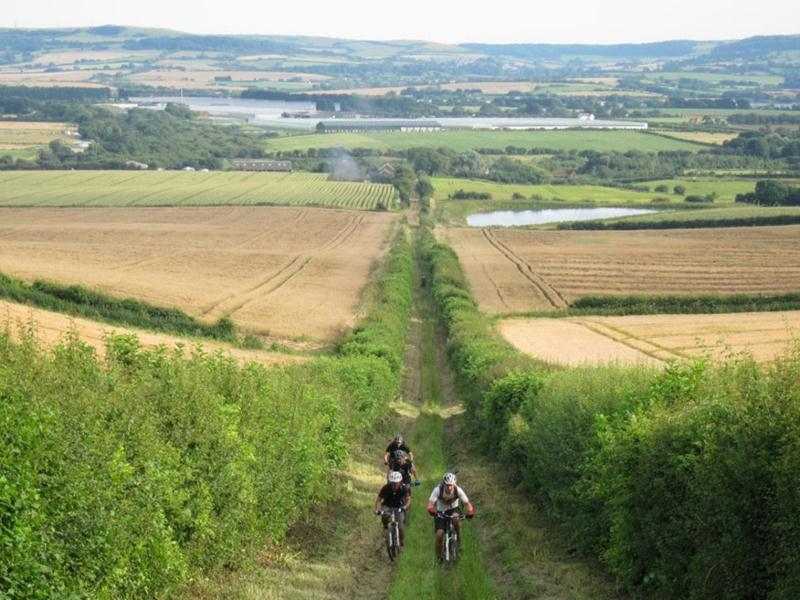 Climb up Mersley Down on the Isle of Wight