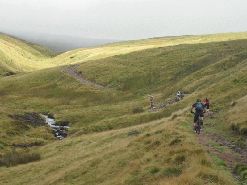 Mountain bike Black Mountains Wales.