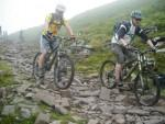 Rocky descent in the Black Mountains.