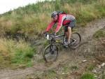 Mountain bike rider at the Devil's MTB challenge event.