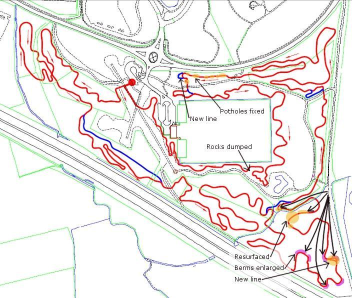 Croft trail build progress 9th Sept 2012.