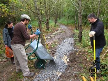 More trail building at Swindon.