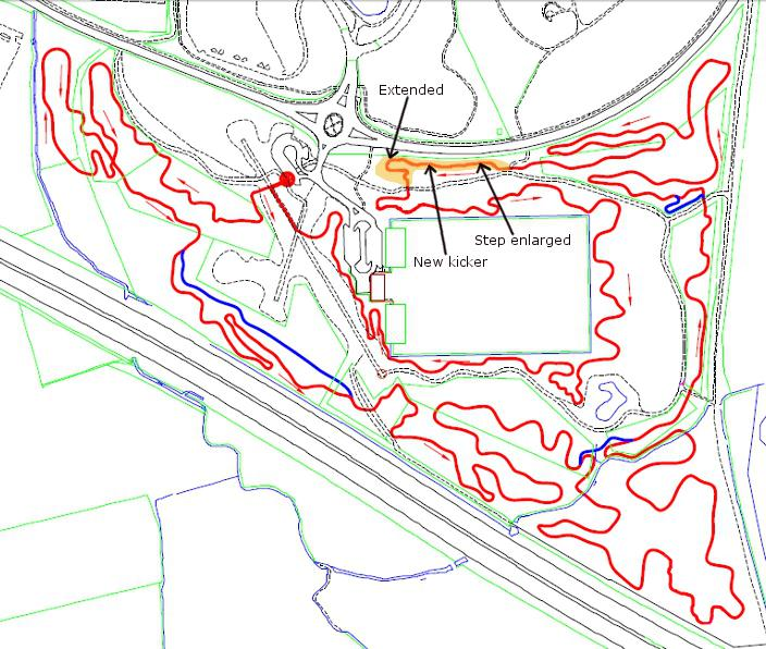 Croft trail build progress map October 2012.