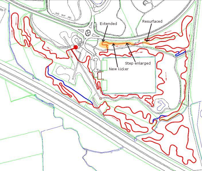 Mountain bike Swindon trail build map October 2012.