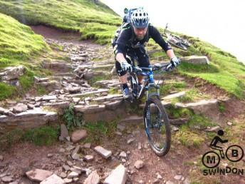 Rock step on Y-Das descent.