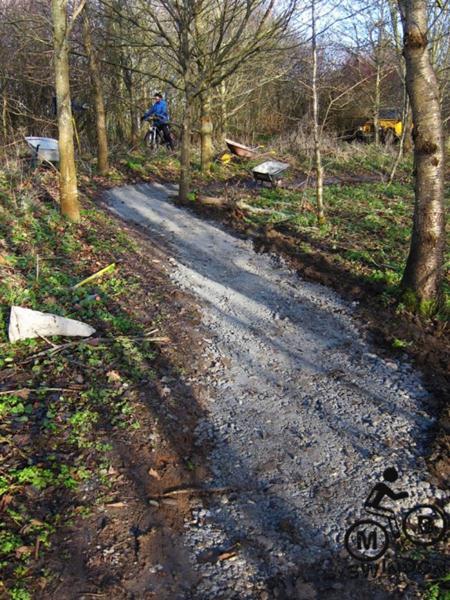 Resurfaced trail