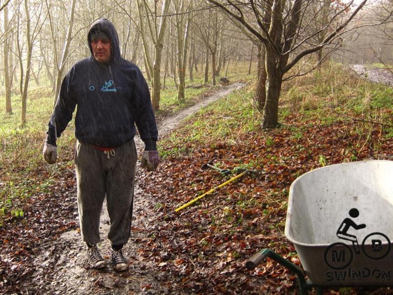 Trail building in the rain