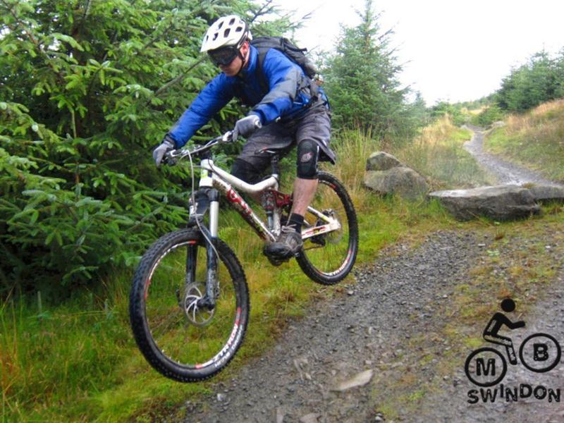 Innerleithen mtb trail jump