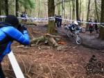 Photographer at the 661 DH race in the Forest of Dean