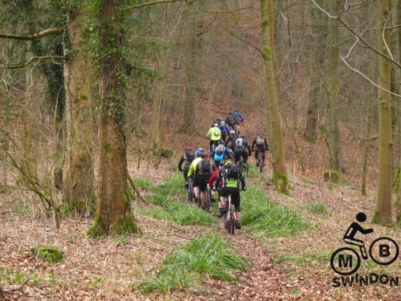 Mountain biking near Stroud.