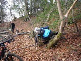 Mountain bike crash near Cranham