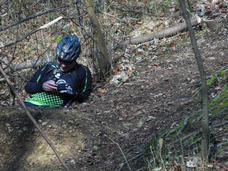 Mountain biking badger