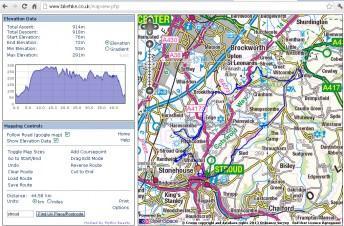 Stroud mountain bike ride map