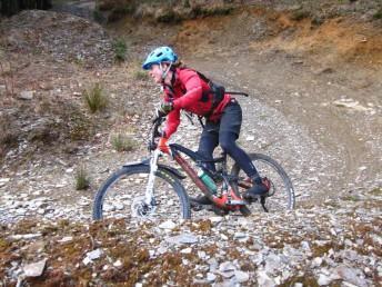 Mountain bike skills coaching.