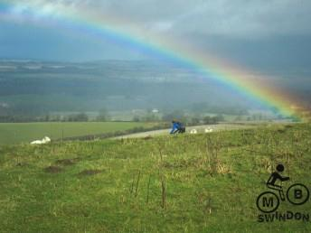 Rainbow at Walbury Hill