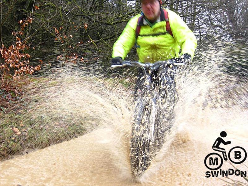 Big puddle at Brechfa with Mudtrek