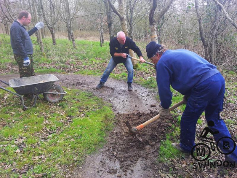 Trail drainage.