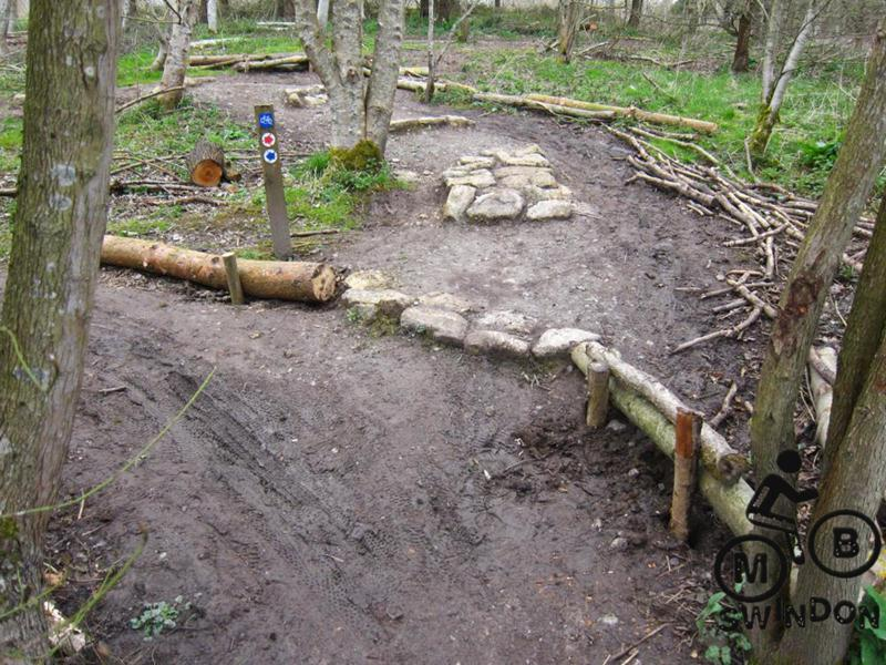Short cuts blocked with logs.