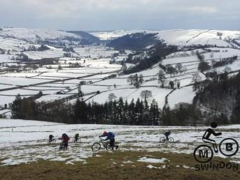 Snow on the Trans Cambrian Ride near Knighton