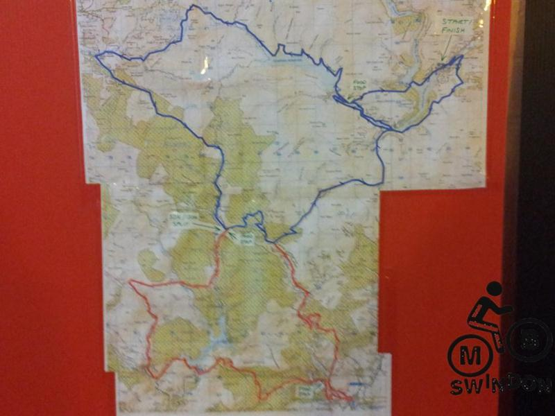 Elan Valley challenge route map