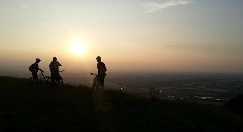 Sunset on Bredon Hill.