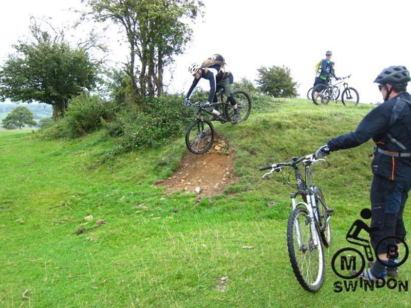 Mountain biking on Minchinhampton Common.
