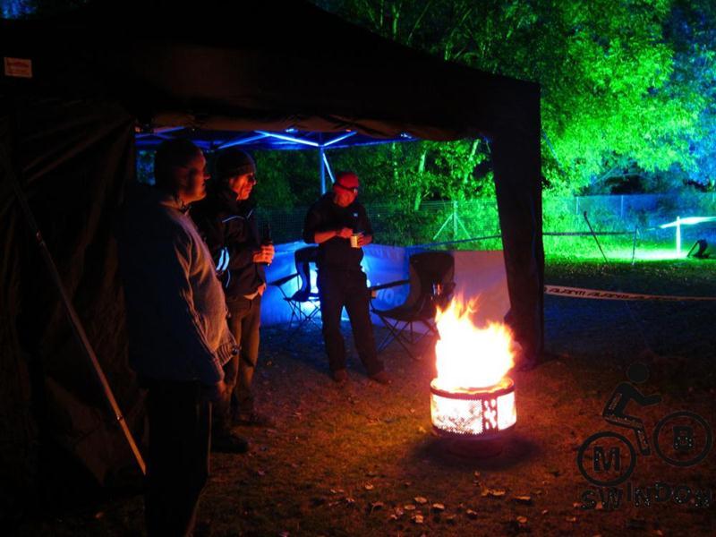 Fire pit at Bristol Oktoberfest