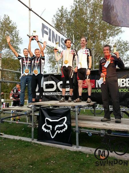 MBswindon xc team on podium at Bristol Oktoberfest