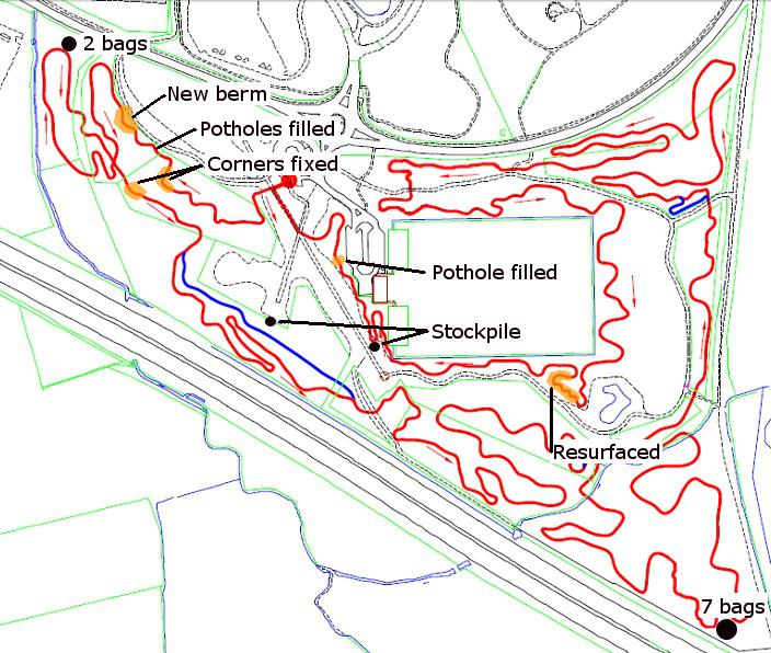 Map of the Croft Trail in Swindon Nov 2013