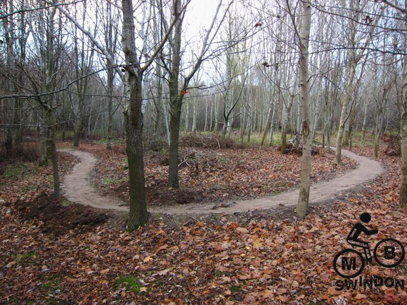 Newly surfaced trail at a mountain bike track.