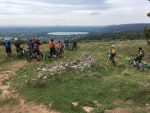 Mountain Bikers at Cheddar Gorge